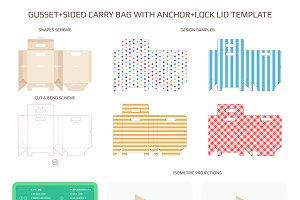 Gusset sided carry bag template