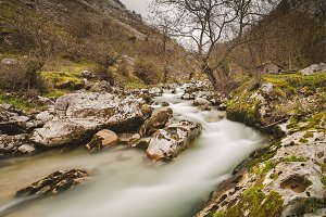 Cares river in Asturias, Spain