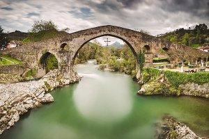 stone bridge in Cangas de Onis
