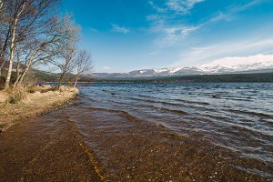 Beautiful loch in a sunny day