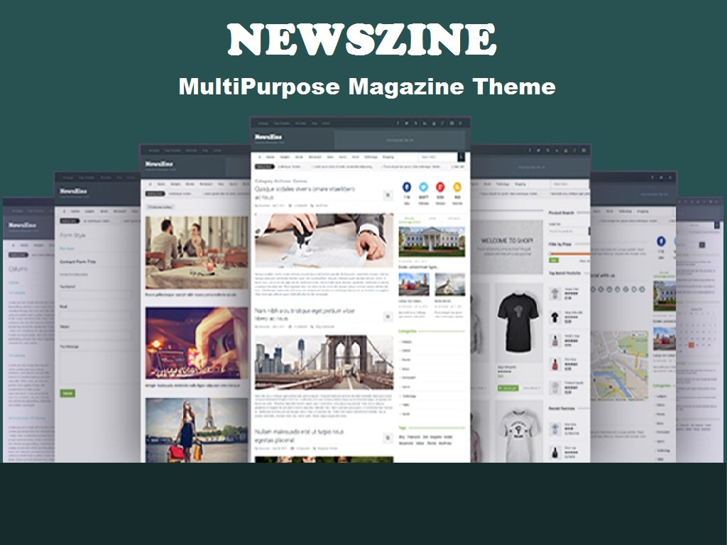 Newszine Multipurpose Magazine Theme Wordpress Magazine Themes