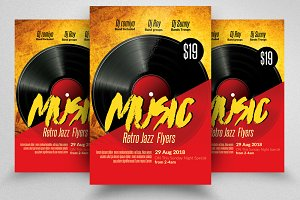Retro Music / Concert Flyer Template