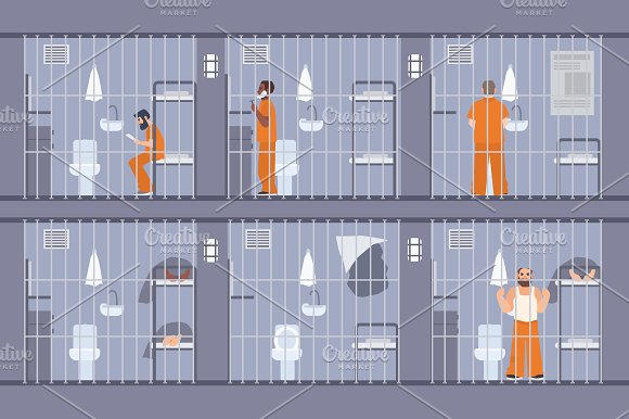 Prisoners Behind The Bars