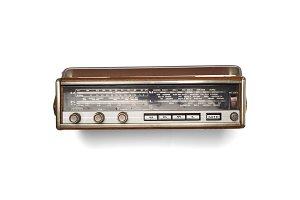Old retro radio top