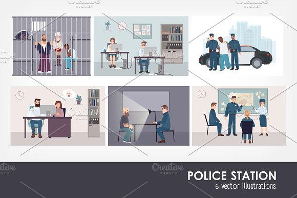 Different Situations In Police Stati