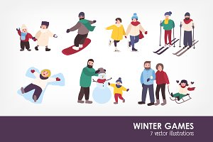 People play winter games
