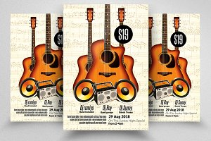 Music Piyano, Guitar Flyer / Poster