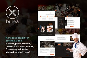 Burea | Restaurant Website PSD