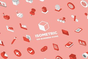 3D Isometric Business Icons