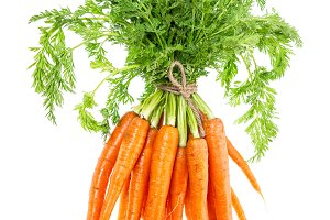 Bunch carrots leaves Vegetable Food