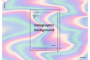 Holographic background with grunge texture