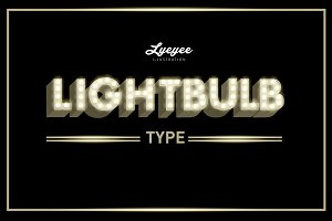 lightbulb typography design