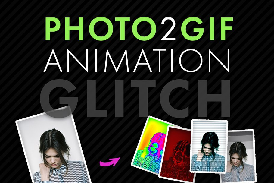 Photo2Gif Animation: Glitch ~ Other Design Software Add-Ons