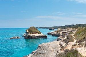 Summer Adriatic sea coast, Italy