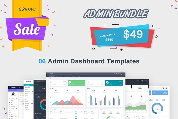Admin Bundle - 6 Admin Dashboard in…