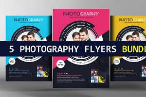 5 Photography Business Flyers Bundle