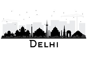 Delhi India City Skyline