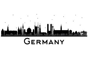 Germany City Skyline Silhouette