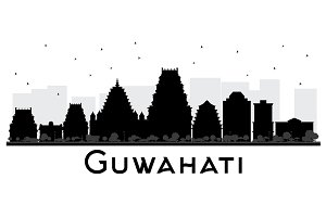 Guwahati India City Skyline