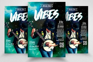 Music Vibes DJ Flyer Template