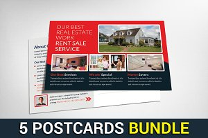 5 Real Estate Postcards Bundle