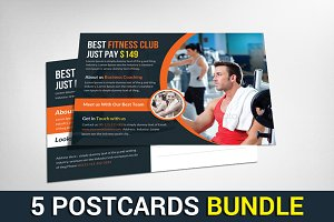 5 Stock Market Business Postcards