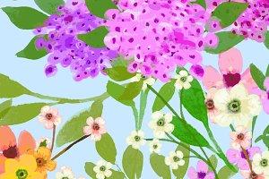 CUSTOM for Megan - Painted Flowers
