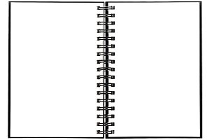 Notebook with spiral binder JPG