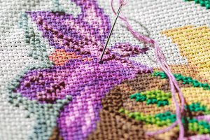 Needle in embroidery