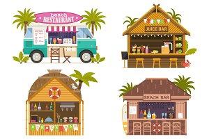 Summer Beach Bars and Restaurants