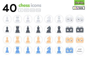 40 Chess Icons - Jolly