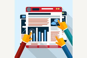 Set of Web Site Seo Analytics Charts