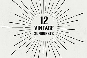 12 Vintage Sunbursts