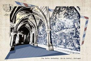 postcard of Porto,