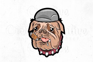 Bulldog logo templete illustration
