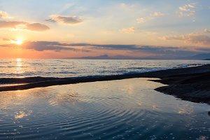 Summer sea coast