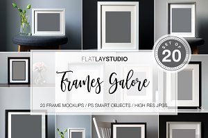 20 FRAMES GALORE MOCKUP BUNDLE