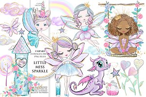 Little Miss Sparkle Clipart