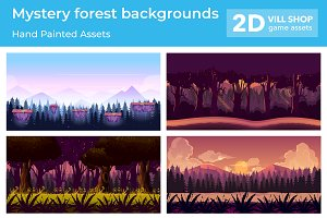 Mystery Forest Backgrounds Set