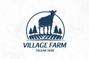VIllage Farm logo Templete