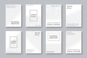 Futuristic digital covers, templates