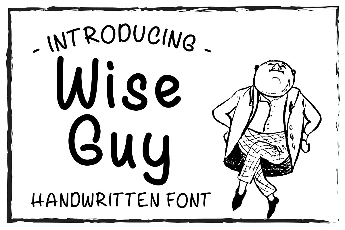 Wise Guy Handwritten Font TTF OTF ~ Sans Serif Fonts