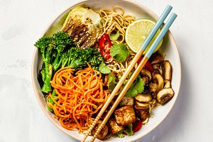 Asian Tofu Soba Noodle Bowl