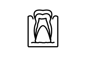 icon. The tooth in the gums