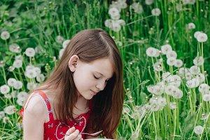 girl at a picnic