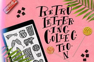 Retro lettering collection