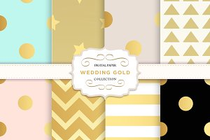 Gold digital paper: patterns dots