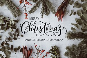 Christmas Lettered Overlay