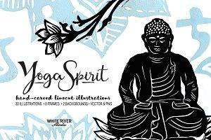 Yoga Spirit Linocuts