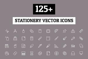 125+ Stationery Vector Icons